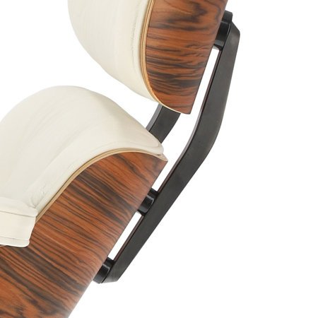 Fotel Vip biały/ rosewood insp. Lounge chair